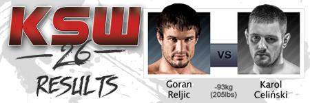 KSW26: Goran Reljic vs Karol Celiñski