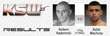 KSW25: Robert Radomski vs Rafa³ B³achuta