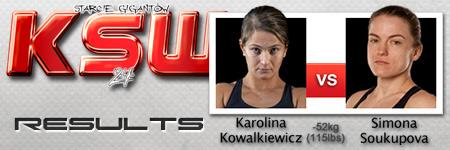 KSW24: Karolina Kowalkiewicz vs Simona Soukupova