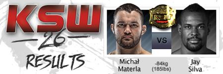 KSW26: Micha³ Materla vs Jay Silva
