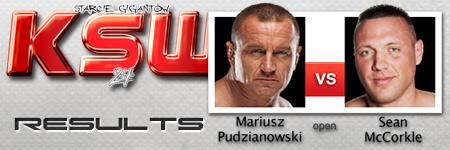KSW24: Mariusz Pudzianowski vs Sean McCorkle