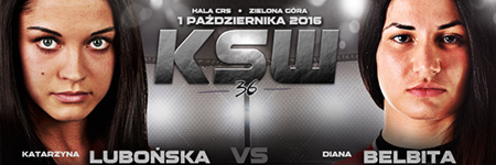 KSW36: Diana Belbita pokonała Lubońską w zdecydowany sposób